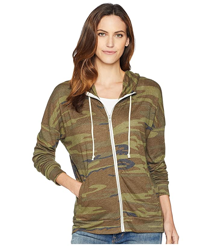 Alternative Cool Down Zip Hoodie (Camo) Women