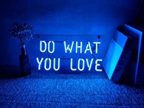 Neon Light Sign Wall Decor Custom Glass Handmade Lamp Light Night Decorations for Home Room Girls Bedroom Garage Living Room Office Beer Bar Blue - Do What You Love