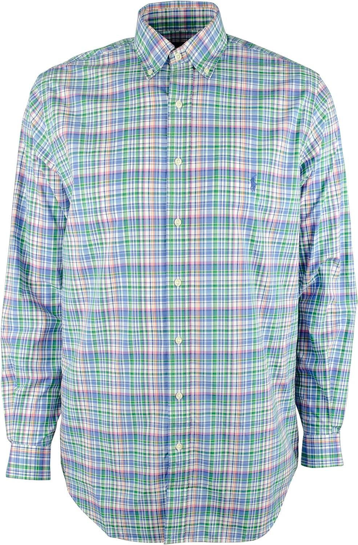 Men's Big and Tall Plaid Long Sleeves Shirt