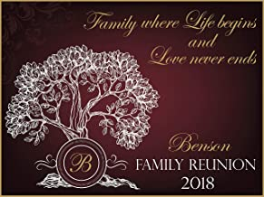 Personalized Family Reunion Banner, Family Tree Banner, Party Decoration, Family Reunion Signs, Family Reunion, Family Banner, Handmade Party Supply Poster Print, Size 24x36, 48x24, 48x36, 24x18