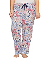 Jockey Plus Size Cotton Jersey Printed Long Pants