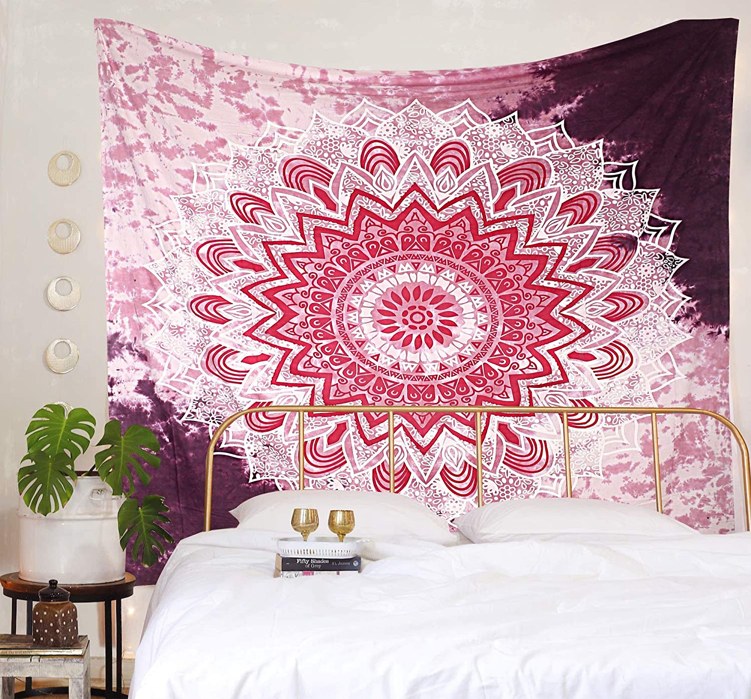 THE ART BOX Pink Wave Mandala Attention brand Wall Trippy Max 72% OFF Tapestry Hanging Tapes