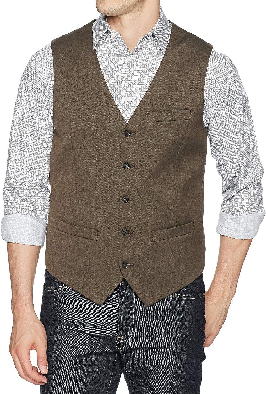 Perry Ellis Men's Stretch Solid Texture Vest