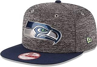 New Era NFL Seattle Seahawks 2016 Draft 9Fifty Snapback Cap, One Size, Heather Gray