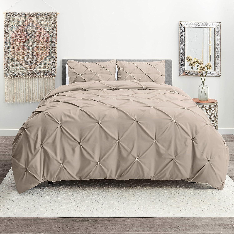 Luxury Charlotte Seasonal Wrap Introduction Mall 3 Piece Pinch Pleated Duvet Light Set Soft Ultra Cover -