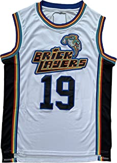 Aaliyah #19 Brick Layers 1996 MTV Rock N Jock 90s Hip Hop Clothes for Party Men Basketball Jersey Stitched White
