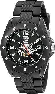 Game Time Men's NHL-BKA-CHI-CH15 NHL- The Stanley Cup 2015 Championship- Chicago Blackhawks Analog Display Japanese Quartz Black Watch