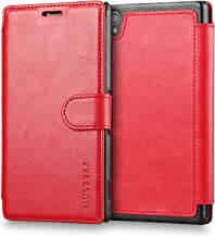 Sony Xperia Z3 Case Wallet,Mulbess [Layered Dandy][Vintage Series][Wine Red] - [Ultra Slim][Wallet Case] - Leather Flip Cover with Credit Card Slot for Sony Xperia Z3