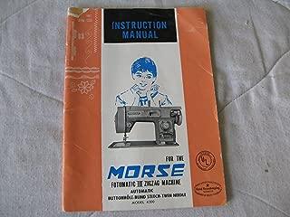 Best morse zig zag 4300 sewing machine manual Reviews