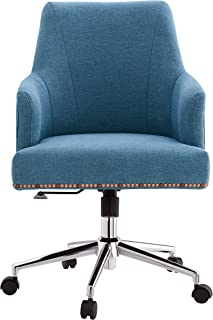 LUXMOD Office Chair in Fabric Blue