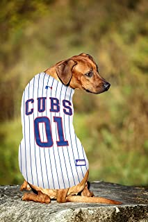 Pets First MLB Chicago Cubs Dog Jersey, XXX-Large. - Pro Team Color Baseball Outfit (CUB-4006-3XL)