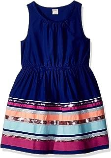 Gymboree Girls' Little Woven Sequin Stripe Dress