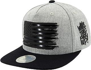 Flipper American Flag Flat Brim Bill Baseball Cap Snapback Hat for Men Women