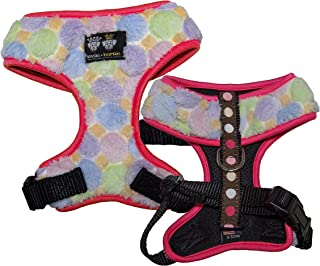 product image for BESSIE AND BARNIE Mesh Luxury Ice Cream/Blushing Dots/Hot Pink Pet Dog Durable Adjustable Harnes