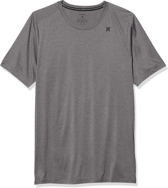 Hurley Men's Nike Dri-fit Short Sleeve Protection +50 UPF Rashguard Sun Active Shirt