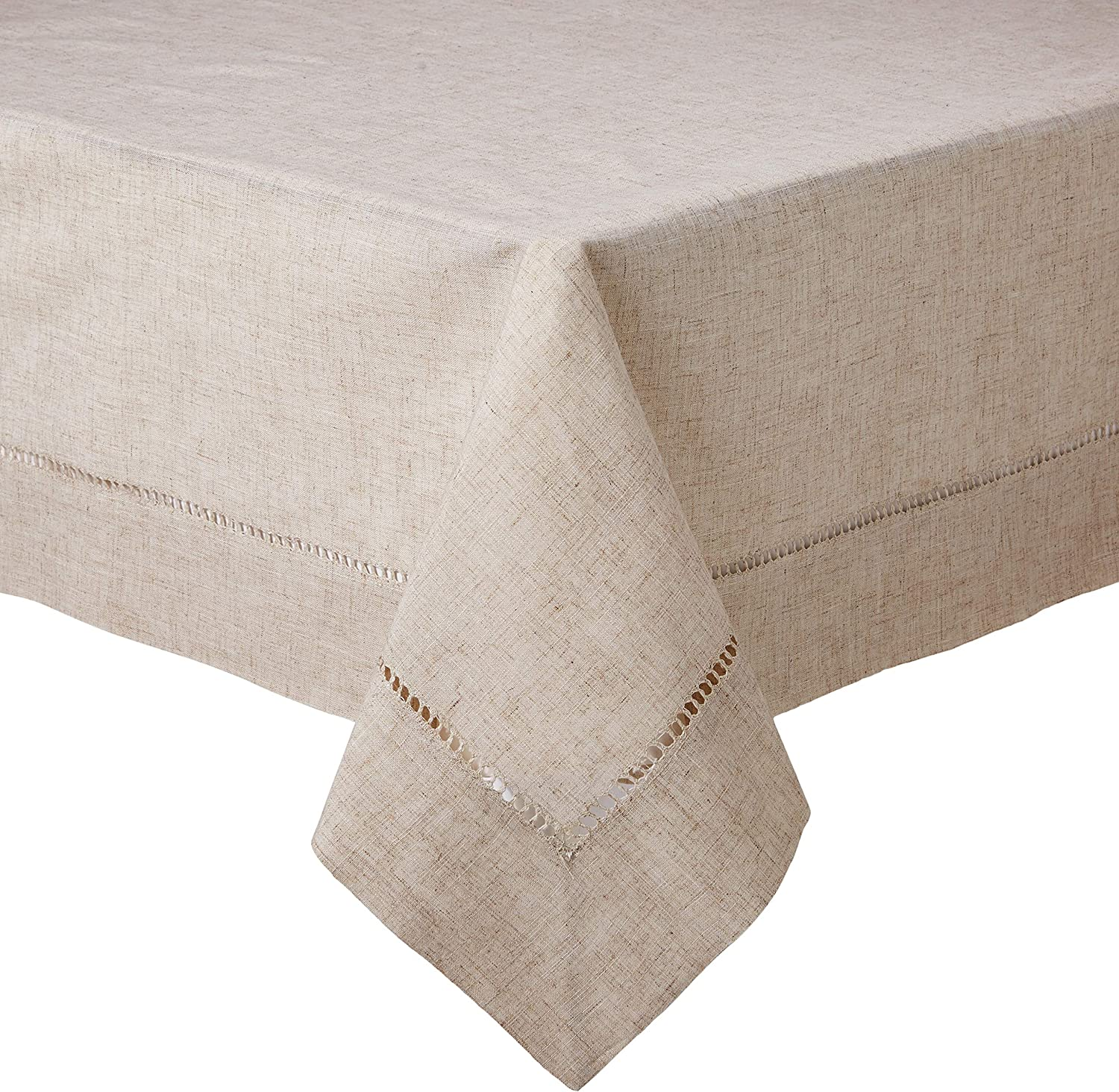 SARO LIFESTYLE 731.N60S (1 Piece) Toscana Square Tablecloth, 60 , Natural