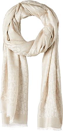 Tommy Hilfiger Damen Monogram Glitter Scarf Schal, Grau (Oatmeal PDV), One size (Herstellergröße: OS)