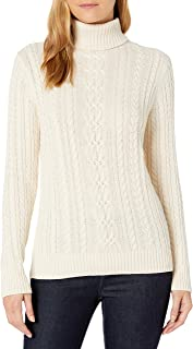 Women's Fisherman Cable Turtleneck Sweater