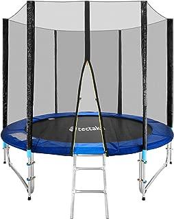 TecTake Cama elástica trampolín para Jardin con Red de Seguridad Escalera - Varias tamaños -