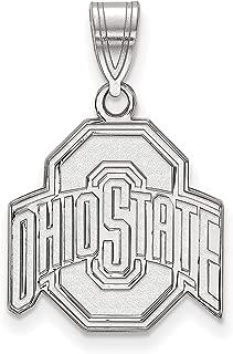 Ohio State University Buckeyes School Logo Pendant in Sterling Silver 16x15mm