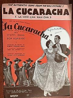 LA CUCARACHA (1934 Juan Y D`Lorah SHEET MUSIC), pristine condition, as featured in the film LA CUCARACHA with Steffi Duna ...