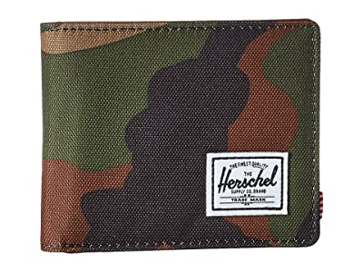 Herschel Supply Co. Hank RFID (Woodland Camo/Tan Synthetic Leather) Wallet Handbags