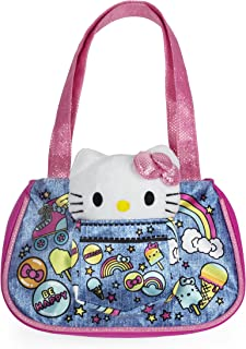 843662d80e Sanrio Hello Kitty Pink Denim Tote with Hello Kitty Plush Cat for Girls