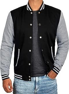 Decrum Black and Grey Letterman Jacket Men - High School Baseball Varsity Jacket Mens