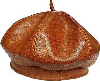 Sponsored Ad - Women French PU Leather Beret Newsboy Artist Cap Cabbie Beanie Hat