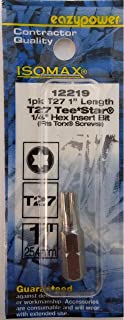 Eazypower 80232 1-Pack T8 Security TeeStar Isomax 9-inch Screwdriver Fits Security Torx Screw
