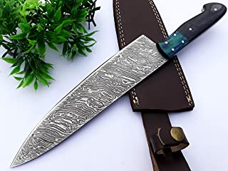 Chef Knife 13 Inches Damascus Blade Lasts a Lifetime, Sharpest Professional Chefs Knife For Cooking, Made for Home Cook or...