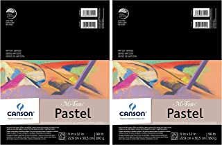 "2-Pack - Mi-Teintes Pastel Pad, Assorted Colors 9"" x 12"" Fold Over"