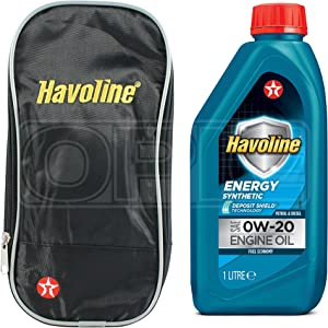 Texaco Havoline Energy 0W-20 Fully Synthetic Engine Oil Litre  Free Pouch