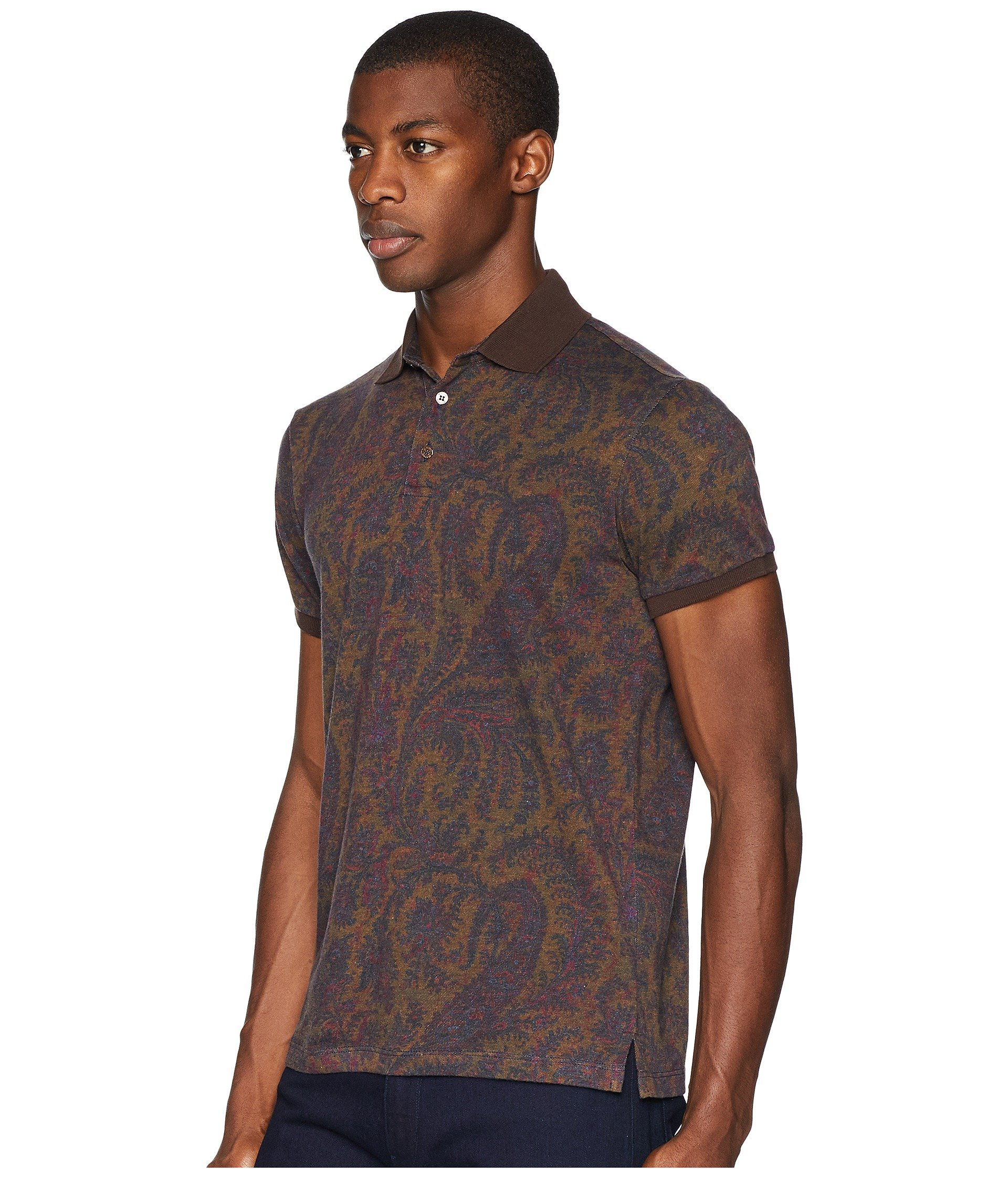 Tobacco cotton Polo Etro cotton Cashmere Etro Cashmere x6BwHvY6