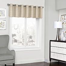 """ECLIPSE Trevi قصيرة ستائر نافذة صغيرة للحمام ، غرفة المعيشة والمطابخ ، 52"""" x 18"""" ، طبيعية"""