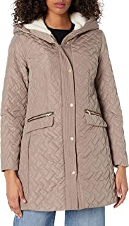 Cole Haan womens Sherpa lined quilted jacket Quilted Jacket