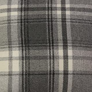 McAlister Textiles Heritage   Charcoal Grey Tartan Check Quliting Fabric Upholstery Material   Fabric by the Yard 55 Inches