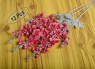 YATAI 12Pcs Artificial Flowers Long Stem Delphinium Branches Spray Fake Plants for Bridal Bouquets Arts Crafts Project Dec...