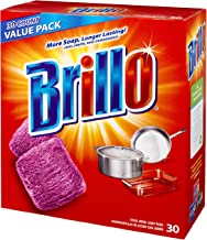 Brillo® Steel Wool Soap Pads 794628302188 Original Scent (Red), 30-Count Jumbo Pack