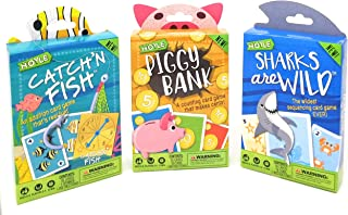 Hoyle Kids Card Games, Catch'n Fish, Piggy Bank, Sharks are Wild, 3 Games Bundle!