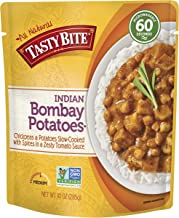 Tasty Bite Indian Entree Bombay Potatoes 10 Ounce (Pack of 6), Fully Cooked Indian Entrée with Chickpeas and Potatoes with Spices in a Tomato Sauce, Vegan, Gluten Free, Microwaveable, Ready to Eat
