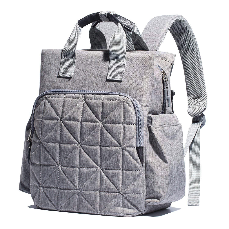 SoHo Kenneth Diaper Backpack 6Pc Set Tote Bag, Gray