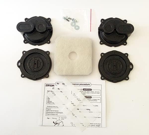 Secoh EL Series Air Pump Full Repair Part Diaphragm Kit DIY For Septic And Pond Aerator
