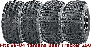 Full Set WANDA Sport ATV tires 22x7-10 & 22x11-10 99-04 Yamaha Bear Tracker 250