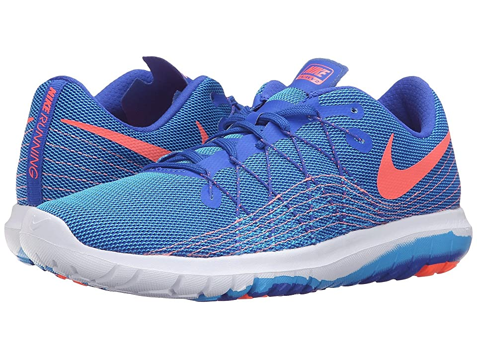 Nike Flex Fury 2 (Racer Blue/Bright Mango/Blue Glow/White) Women