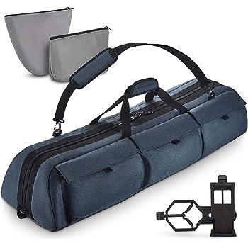 Multipurpose Telescope Case - Fits Most Telescopes - 40x10.6x7 inch - Bonus Smart Phone Adapter Included
