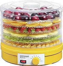 CONCEPT huisapparaten so1015 gele dehydrator met 6 verdiepingen en temperatuurregelaar 35-70 graden, geel