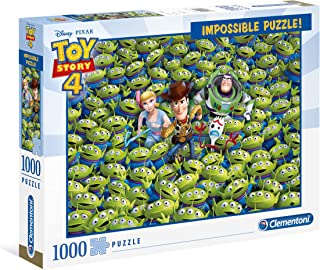 Clementoni 39499 - Impossible Puzzle - Disney Toy Story 4-1000 Pieces, jigsaw puzzle for adults