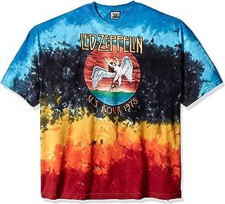 Men's Led Zeppelin Icarus 1975 Tie Dye Short Sleeve T-Shirt