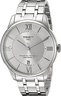 Tissot Men's T0994071103800 Chemin Des Tourelles Powermatic 80 Analog Display Swiss Automatic Silver Watch